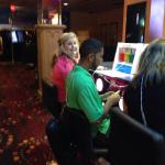 Victoria Claypoole and Kevin Singh take a break at the Oxygen Bar