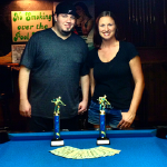 Chris Gentile and Jessica Human won the Scotch Doubles division.